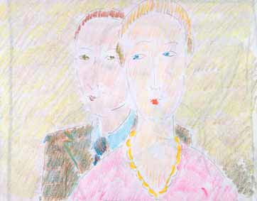 dessin michel ducruet, couple